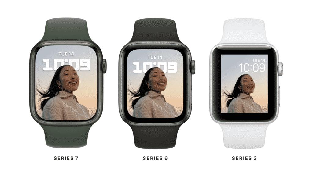 Porównanie Apple Watch 7 z poprzednimi generacjami Apple Watch